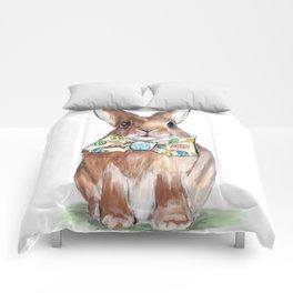 Easter Bunny wearing Bow Tie Comforters