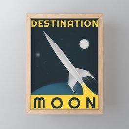 Destination Moon, 1950 (Vintage Movie Poster Reimagination) Framed Mini Art Print