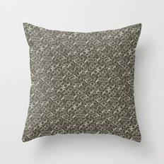 Bubbles   Dark Throw Pillow