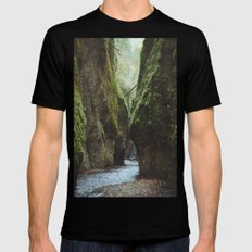 Oneonta Gorge Mens Fitted Tee SMALL Black