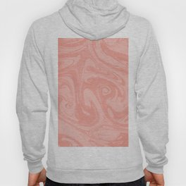 Pantone Living Coral Abstract Fluid Art Swirl Pattern Hoody