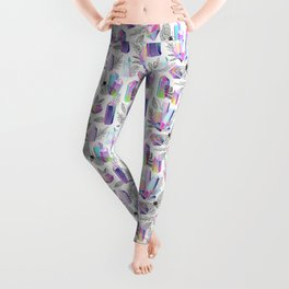 Crystals and Moths Leggings