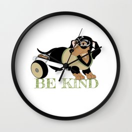 Ricky Bobby #3: Be Kind Wall Clock