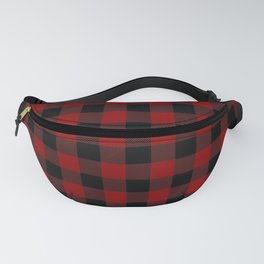 Red and Black Plaid Fanny Pack