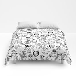 Funny owls Comforters