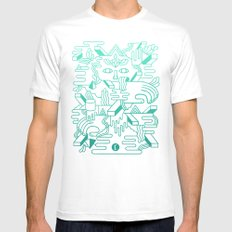 Fever Dreams MEDIUM White Mens Fitted Tee