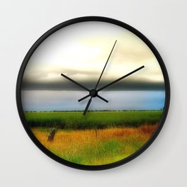 Low lying Clouds Wall Clock