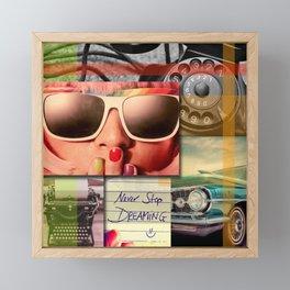 Simply Retro Collage Framed Mini Art Print