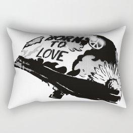 Born to love Rectangular Pillow