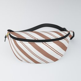 Sherwin Williams Cavern Clay Stripes Thick and Thin Angled Lines Fanny Pack