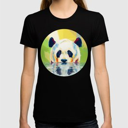 Panda taking a bath T-shirt
