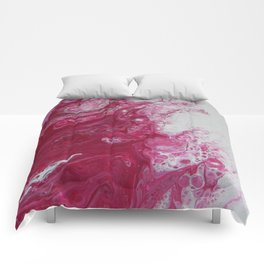 Tentacles, abstract acrylic fluid painting Comforters