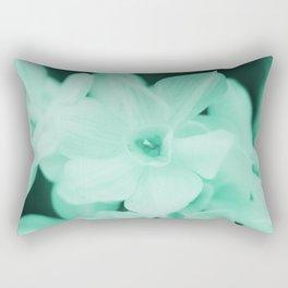 Paperwhites -- mint green Rectangular Pillow