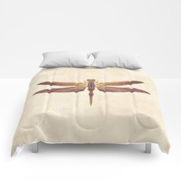 Art Nouveau Dragonfly In Purple Comforters