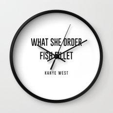 Fish fillet Wall Clock