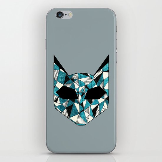 Turquoise Cat iPhone & iPod Skin