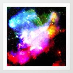 crazy space Art Print