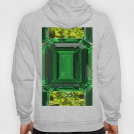 EMERALDS &  LIME GREEN PERIDOT GEMS BIRTHSTONES Hoody