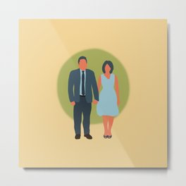 Save the Date - The Couple - Love Metal Print