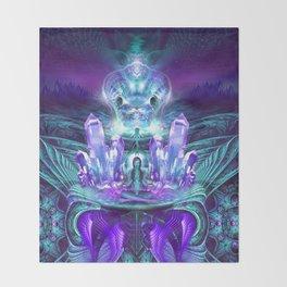 Expanding horizons - Visionary - Fractal - Manafold Art Throw Blanket