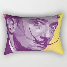 Salvador Dali Low Poly Collection Rectangular Pillow