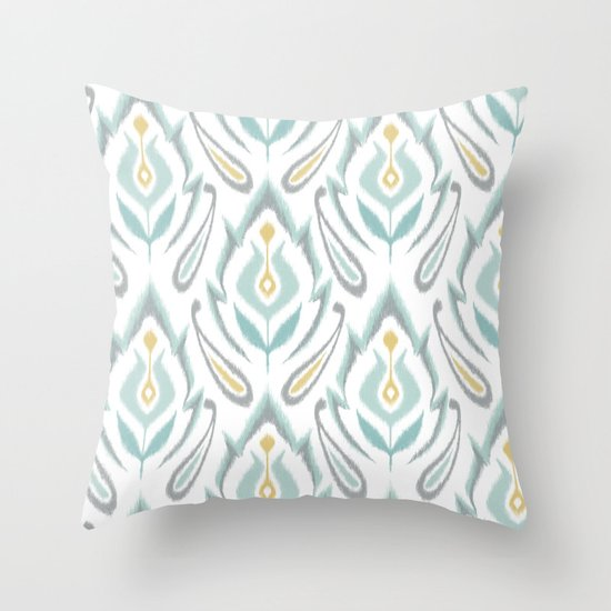 Soft Ikat Throw Pillow