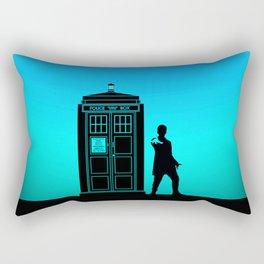 Tardis With The Twelfth Doctor Rectangular Pillow