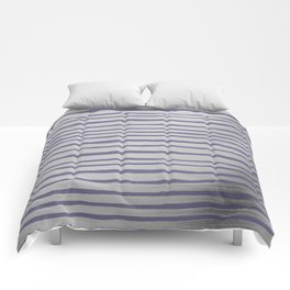 Violet gray silver watercolor brushstrokes stripes Comforters
