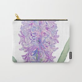 purple pink hyacinth watercolor Carry-All Pouch