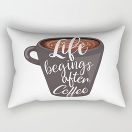 Life begins after coffee. Typography design Rectangular Pillow