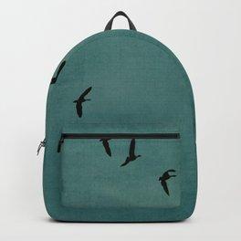 GEESE FLYING - TEAL Backpack