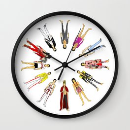 Champions Line Up Wall Clock