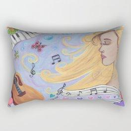 She Dreams in Music Rectangular Pillow