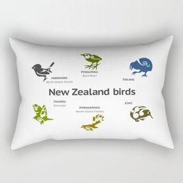 New Zealand Birds Rectangular Pillow