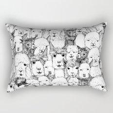 just alpacas black white Rectangular Pillow