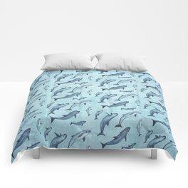 Pattern: Sea of Vaquita ~ (Watercolor Art, Copyright 2015) Comforters