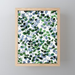 Synergy Blue and Green Framed Mini Art Print