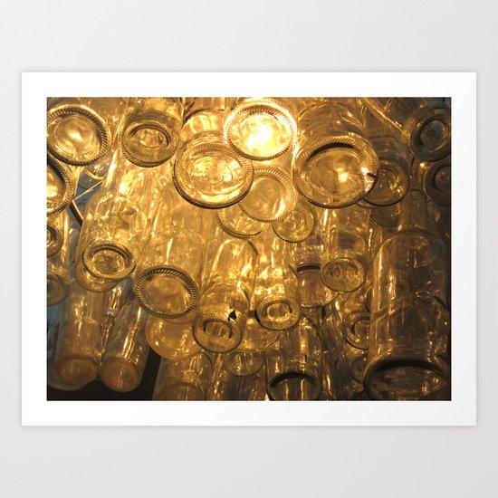 Venetian Bottles Art Print