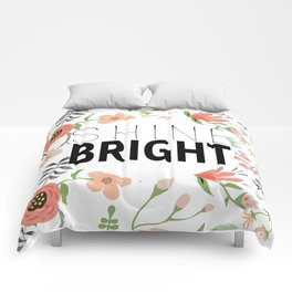 Shine bright quite with girly flower pattern Comforters