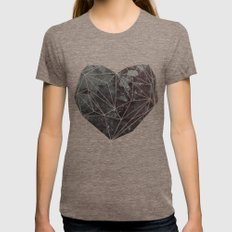 Heart Graphic 4 Tri-Coffee X-LARGE Womens Fitted Tee