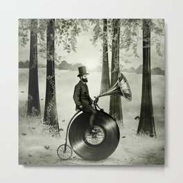 Music Man in the Forest, by Eric Fan and Viviana González Metal Print