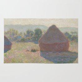 Meules, milieu du jour [Haystacks, midday] Rug