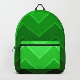 Gradient Green Zig-Zags Backpack