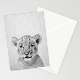 Baby Lion - Black & White Stationery Cards
