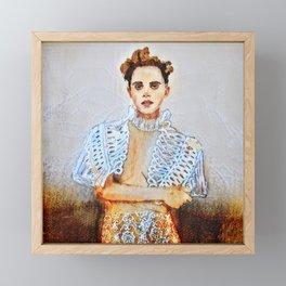 Emma grunge Framed Mini Art Print
