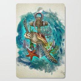 Turtle and Sea Cutting Board