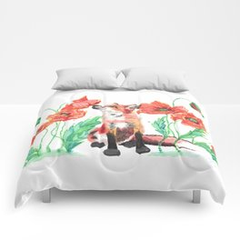 Pause & Smell the Poppies Comforters