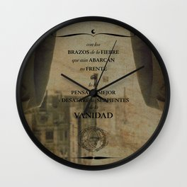 Con los brazos de la fiebre Wall Clock
