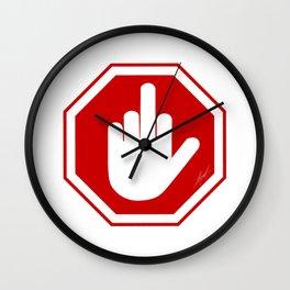 DAMAGED STOP SIGN Wall Clock