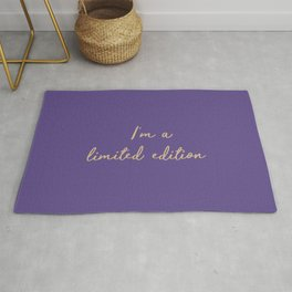I'm a limited edition word on violet Rug